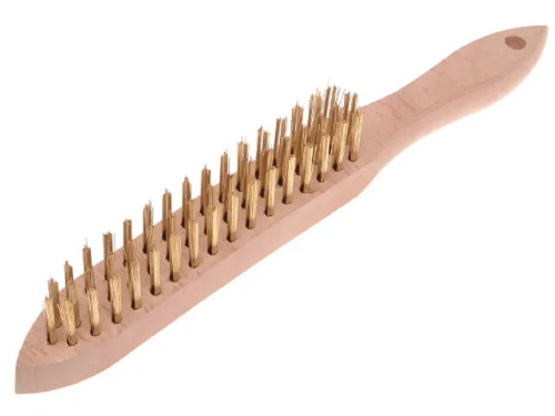 Faithfull FAI680B3 Brass Wire Scratch Brush 3 Row